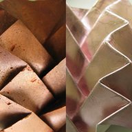 Arantza Vilas – Pinaki Studios (producer - Rococo Chocolates): Chocolat Edible Surfaces (UK/NL) Pineapple Pleat (foiled leather)